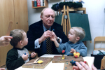 Neil Kinnock says he has no regrets: 'mutter, mutter, thatcher, mutter, 'pants' major, mutter, blackpool beach, mutter, sheffield rally, mutter'