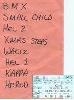 set list from Mogwai gig in Philadelphia, Sept 1999